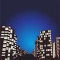 Night City comic Background Royalty Free Stock Photo