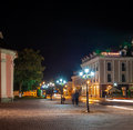 Night City. Historic District Kamyanets-Podolsky City. Royalty Free Stock Photos