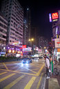 Night city life of Hong Kong Royalty Free Stock Photography