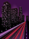 Night city modern illustration at time background Stock Photography