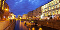 Night city st petersburg canals of Royalty Free Stock Images