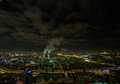 Night city view of from high skyscrapers Stock Photography