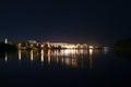 Night city Zelenogorsk, Krasnoyarsk region Royalty Free Stock Photo