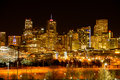 Night Cityscape of Denver Royalty Free Stock Photo