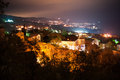 Night cityscape, town Gaspra Royalty Free Stock Photo