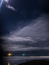 Night Cloudscape shot lit up by the moon Royalty Free Stock Photo