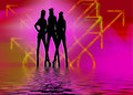 Night club girls Royalty Free Stock Photography