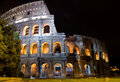 Night Coliseum Royalty Free Stock Photo