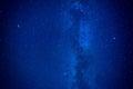 Night dark blue sky Royalty Free Stock Photo
