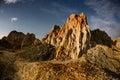 Night on desert place in eastern kazakhstan named shekelmes Royalty Free Stock Photography
