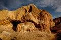 Night on desert place in eastern kazakhstan named shekelmes Royalty Free Stock Photo
