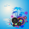 Night Disco Dance Tropical Music Flyer. Royalty Free Stock Photo