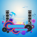 Night disco dance tropical music flyer eps vector Stock Images