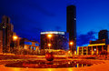 Night downtown center of Ekaterinburg summer heat Royalty Free Stock Photo