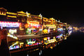 Night of fenghuang ancient town beautiful china Royalty Free Stock Photos