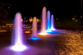 Night fountain Royalty Free Stock Photo