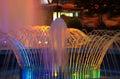 Night fountains Royalty Free Stock Photo