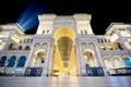 Night of Galleria Vittorio Emanuele II in Milan wide angle Royalty Free Stock Photo
