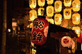 Night of gion festival in kyoto, japan Royalty Free Stock Photo