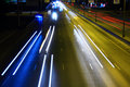 Night highway with car traffic Royalty Free Stock Photos