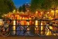 Night  Illumination Of Amsterd...
