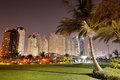 Night illumination of the luxury hotel dubai uae Royalty Free Stock Photography