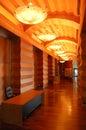 Night illumination of popular hotel Royalty Free Stock Photo