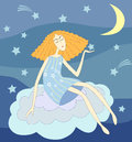 Night lady Royalty Free Stock Photography