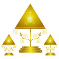 Night lamp design isolated in white background Royalty Free Stock Image