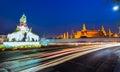 Night landscape of famous place Wat Prakaew Royalty Free Stock Photo