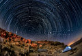 Night landscape in the Negev desert. Royalty Free Stock Photo