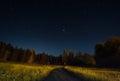 Night landscape under starlight Royalty Free Stock Photo