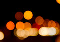 Night lanscape light bokeh the on background Stock Image