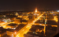 Night light looking to State Capital Building,Springfield Illino Royalty Free Stock Photo