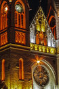 Night lighting of the roman catholic cathedral located in balcescu square of timisoara romania Royalty Free Stock Photography