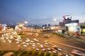 Night lights of the big city, bokeh background, Hochiminh city Royalty Free Stock Photo