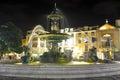 Night-lit fountain Lisbon, Portugal Royalty Free Stock Photo