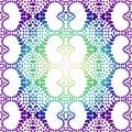 Night mandala hearts pattern seamless texture Royalty Free Stock Photo