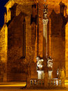Night in a medieval square Royalty Free Stock Photo