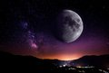 Night moon Royalty Free Stock Images