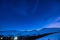 Night in the mountains Royalty Free Stock Photo