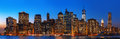 Night New York City Skyline Pa...