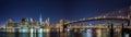 NEW YORK CITY NIGHT LIGHTS Royalty Free Stock Photo