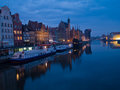 Night at old Gdansk, Poland Royalty Free Stock Photos