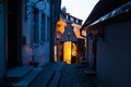 Night in the Old Town of Tallinn Stock Image