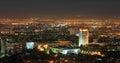 Night panorama of center of alma ata city Royalty Free Stock Photo