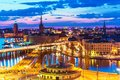 Night panorama of Stockholm, Sweden Royalty Free Stock Photo