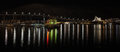 Night panorama of Tromso, Norway Royalty Free Stock Photo