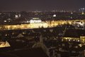 Night panoramatic view on the city centre of the Prague, capitol of the Czech republic Royalty Free Stock Photo