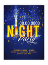 Night Party Template, Banner or Flyer design.